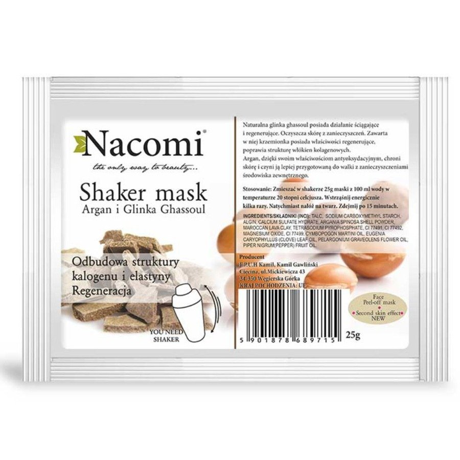 Nacomi Naturalna maska algowa do twarzy z olejem arganowym (shaker)