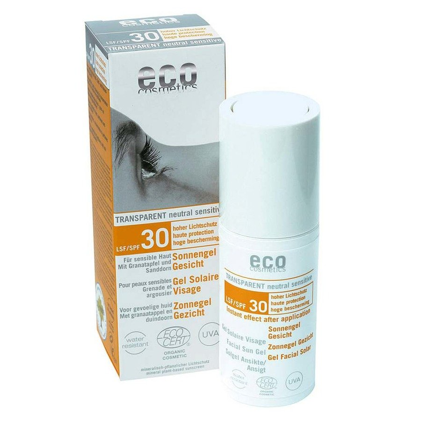 Eco Cosmetics Żel na słońce do twarzy SPF 30