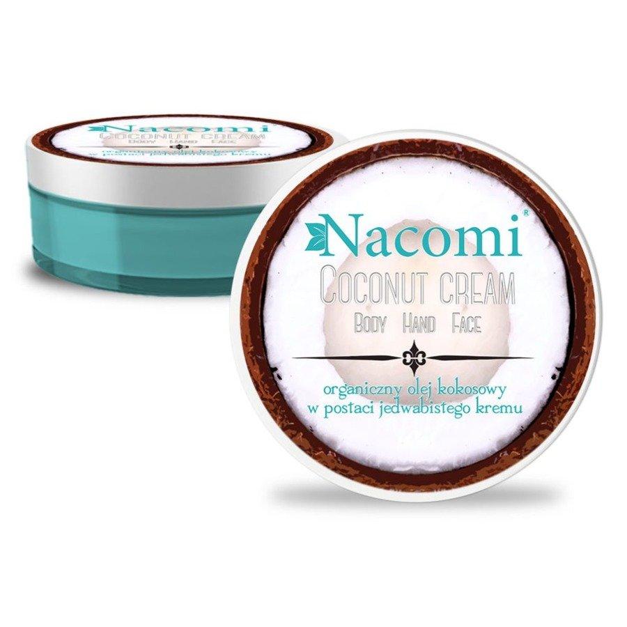 Nacomi Naturalny krem kokosowy do twarzy, ciała i dłoni