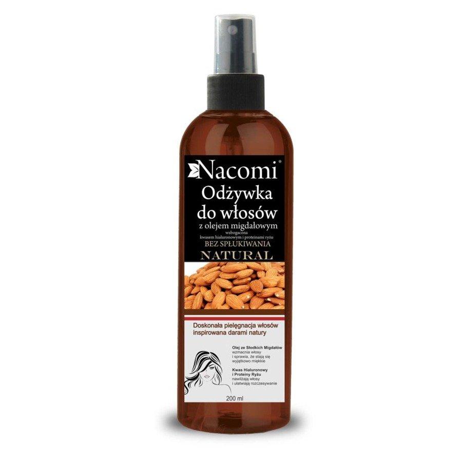 Nacomi Odżywka bez spłukiwania z Olejem ze Słodkich Migdałów i Proteinami Ryżu i Kwasem Hialuronowym.
