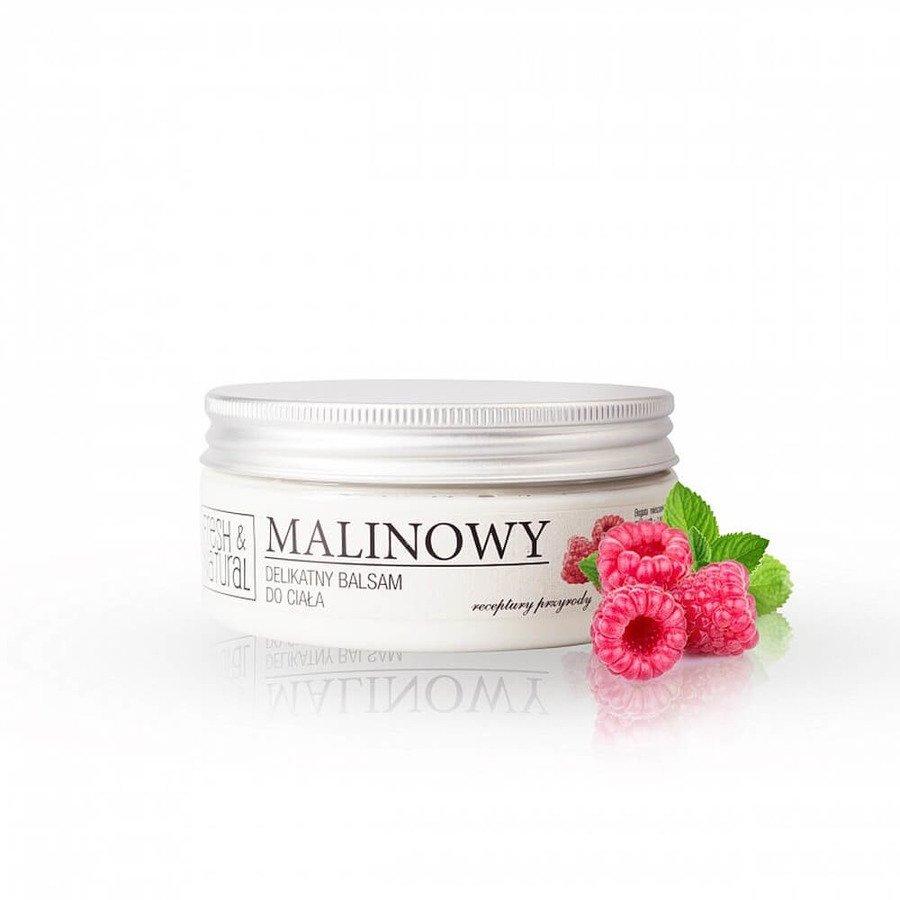 Fresh&Natural Delikatny balsam do ciała o zapachu malinowym 250g