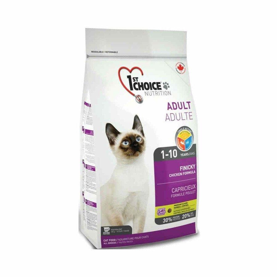 1st Choice Cat Finicky Karma sucha dla kotów wybrednych lub aktywnych mięso z kurczaka i śledzi 5,44 kg