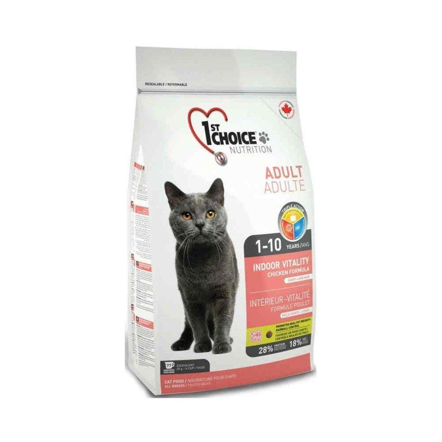 1st Choice Indoor Vitality Karma sucha dla kotów niewychodzących z domu mięso kurczaka 2,72 kg
