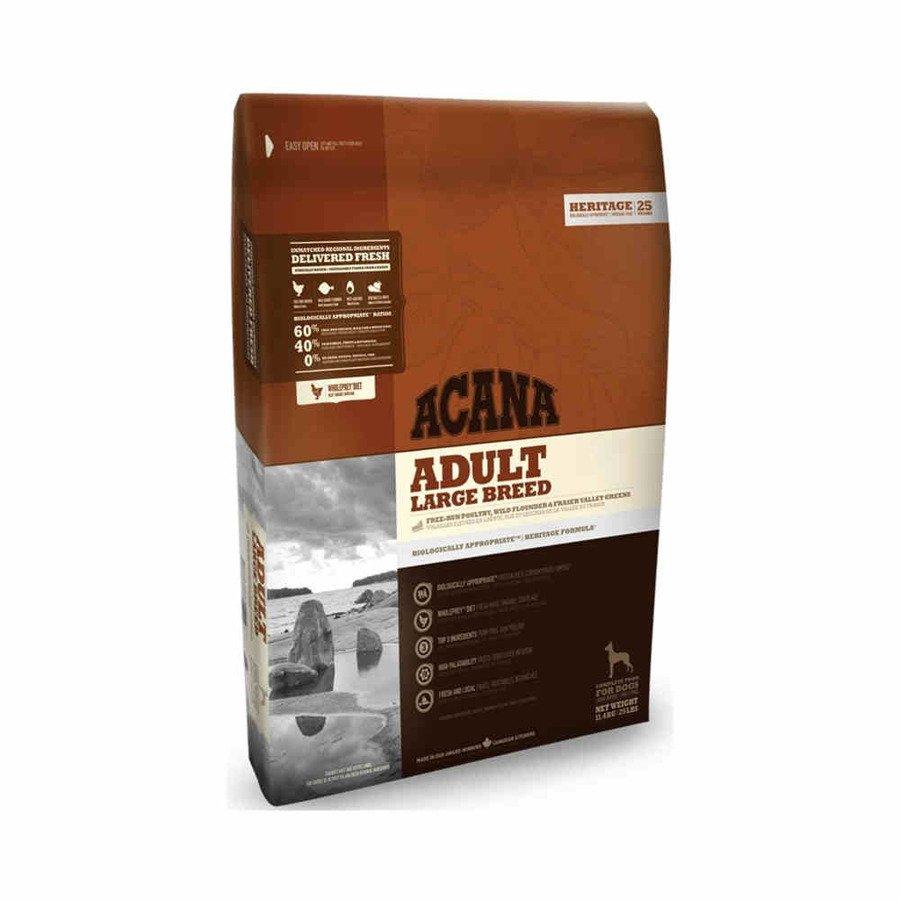 Acana Heritege Adult Large Breed Sucha karma dla psów dużych ras bezglutenowa 17 kg