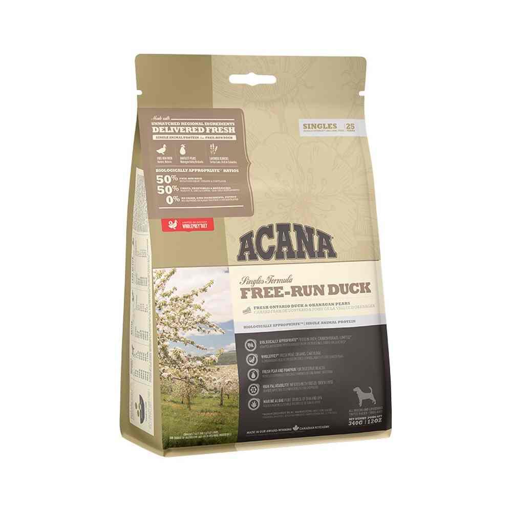 Acana Singles Free-Run Duck Sucha karma monobiałkowa dla psów wszystkich ras 2 kg