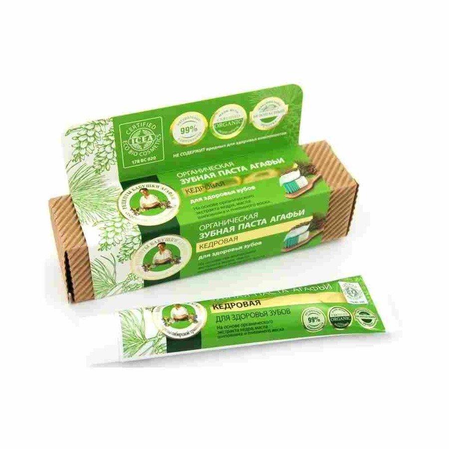 Agafia Organiczna pasta do zębów bez fluoru cedrowa 75 ml