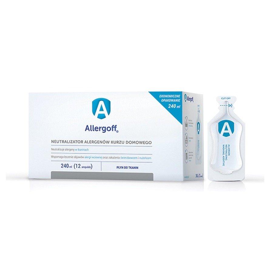 Allergoff Płyn do tkanin neutralizator alergenów kurzu domowego 240 ml