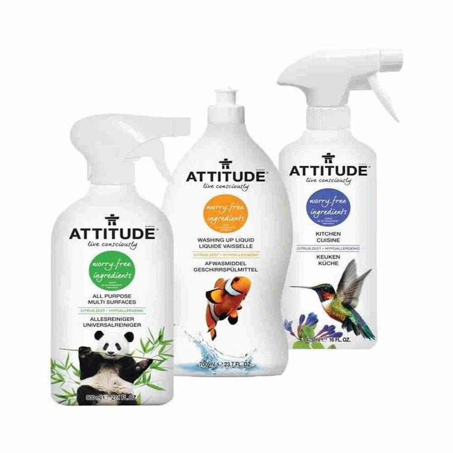 Attitude Hipoalergiczny zestaw do czyszczenia kuchni attitude