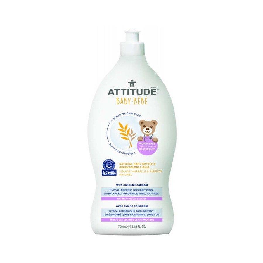 Attitude Naturalny płyn do mycia butelek i naczyń dla niemowląt hipoalergiczny bezzapachowy 700 ml