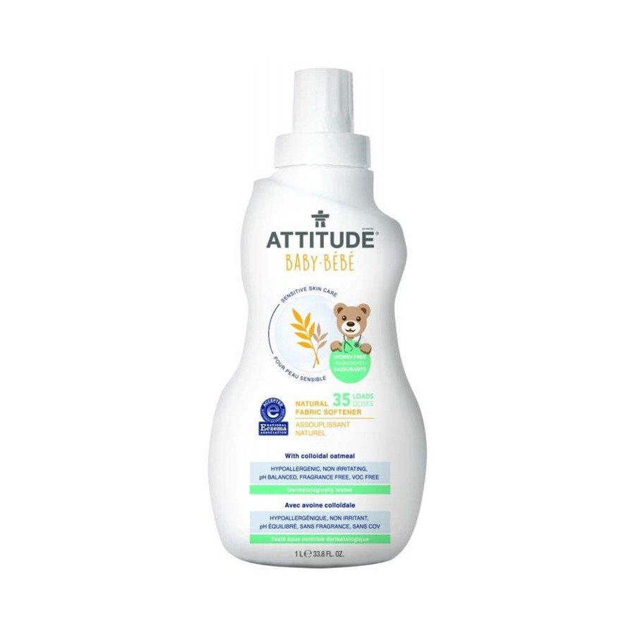 Attitude Naturalny płyn do płukania tkanin dla niemowląt hipoalergiczny bezzapachowy 1000 ml
