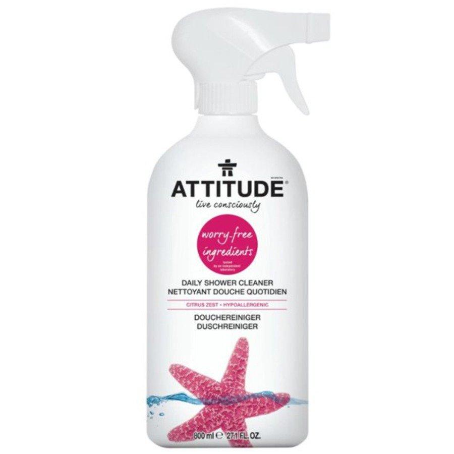 Attitude Płyn do mycia kabin prysznicowych skórka cytrynowa (citrus zest) 800 ml