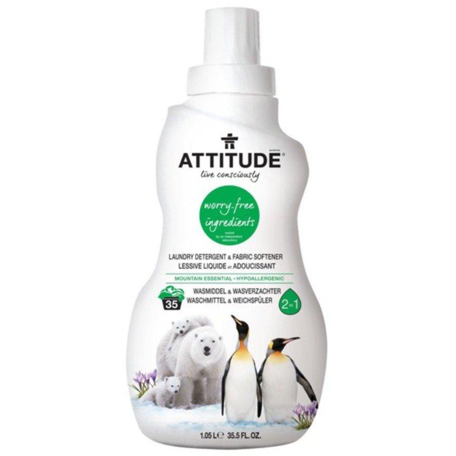 Attitude Płyn do prania i płukania 2w1 górska świeżość