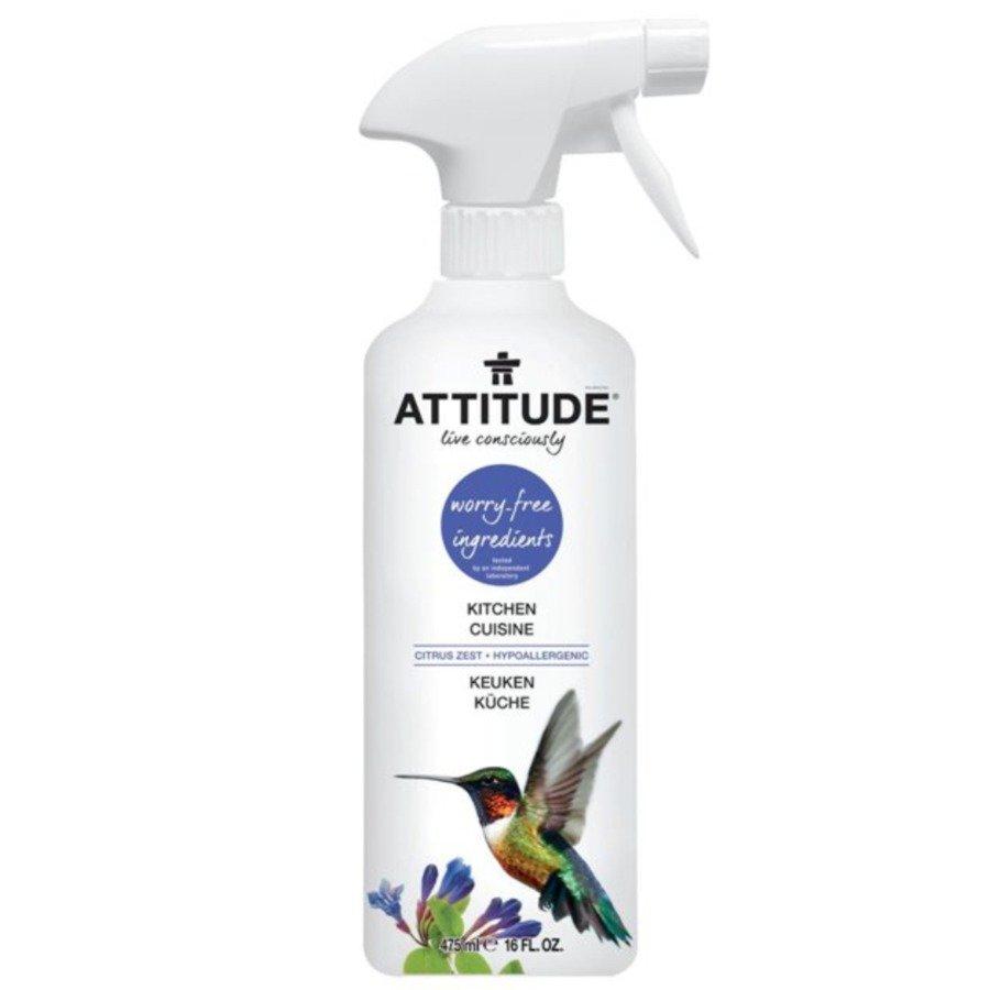 Attitude Płyn w sprayu do czyszczenia kuchni skórka cytrynowa 800 ml