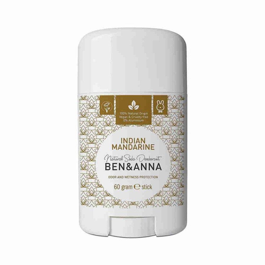 BEN and ANNA Naturalny dezodorant w sztyfcie indian mandarine plastikowy 60 g