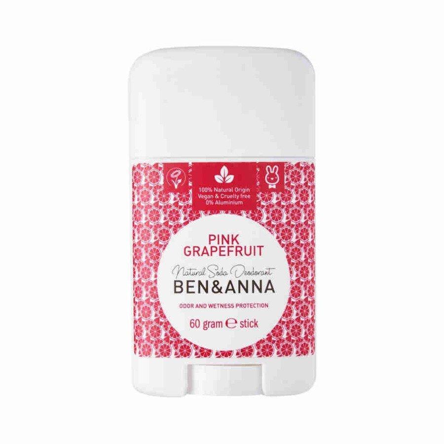BEN and ANNA Naturalny dezodorant w sztyfcie pink grapefruit plastikowy 60g