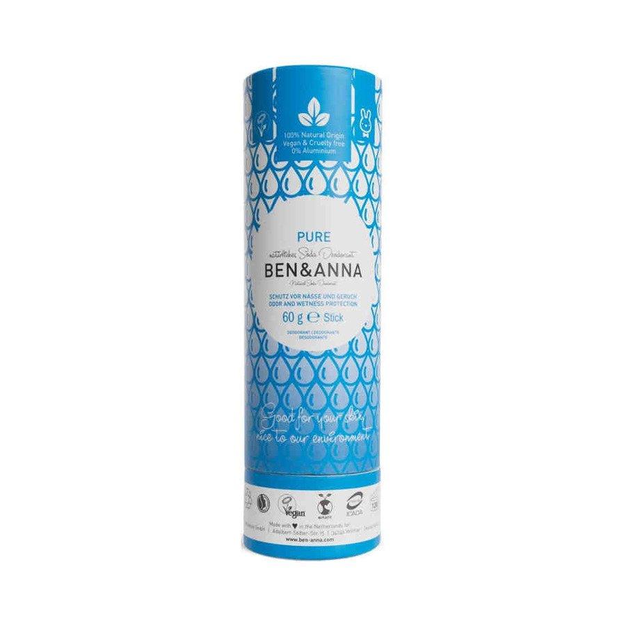 BEN and ANNA Naturalny dezodorant w sztyfcie pure kartonowy 60 g