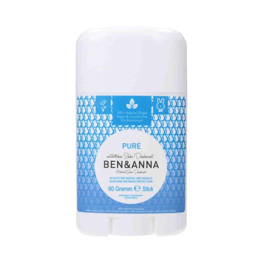 BEN and ANNA Naturalny dezodorant w sztyfcie pure plastikowy 60 g