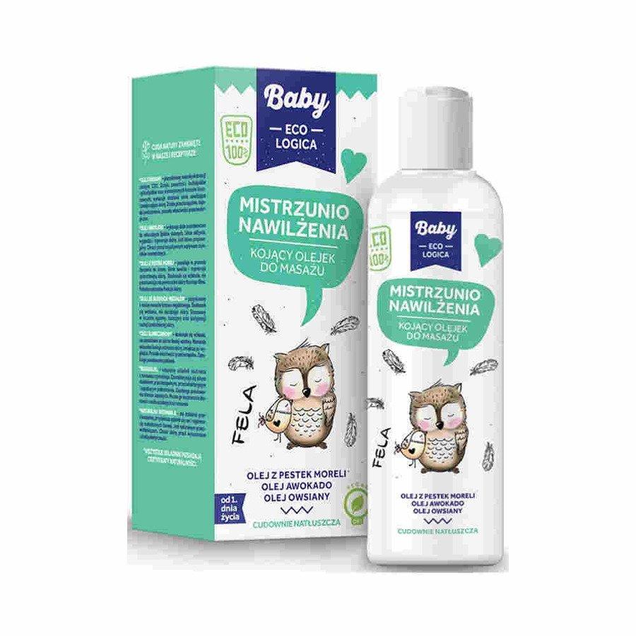 Baby Ecologica Mistrzunio nawilżenia kojący olejek do masażu 150 ml