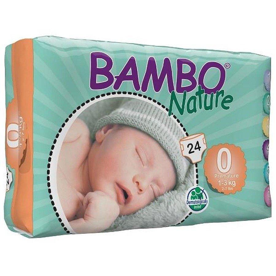Bambo Nature 0 Pieluchy antyalergiczne dla wcześniaków 1-3 kg 24 szt.