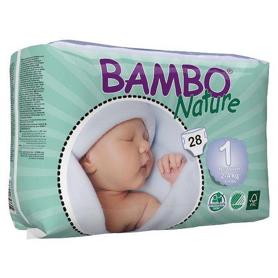Bambo Nature 1 Pieluchy antyalergiczne dla dzieci 2-4 kg 28 szt.