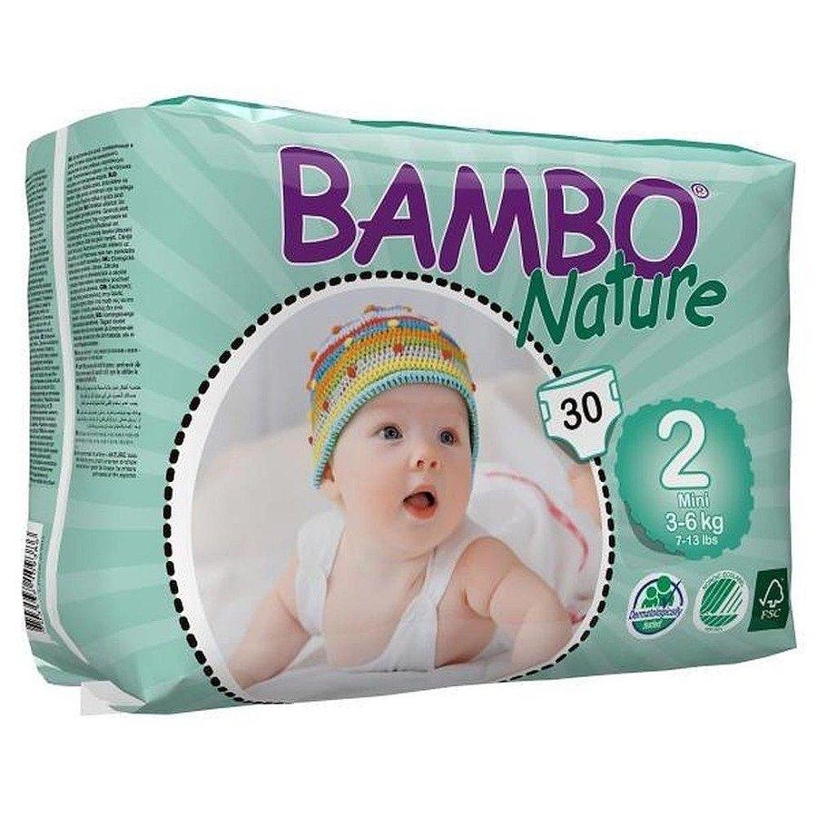 Bambo Nature 2 Pieluchy antyalergiczne dla dzieci 3-6 kg 30 szt.