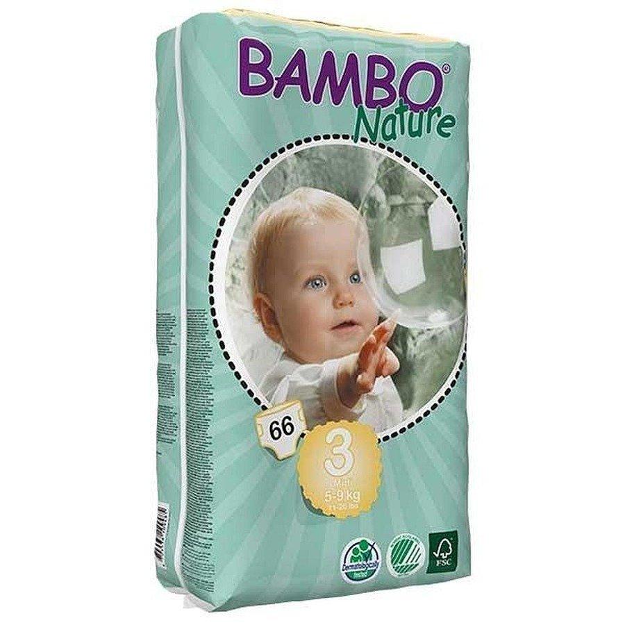 Bambo Nature 3 Ekologiczne pieluchy jednorazowe dla dzieci 5-9 kg 66 szt.