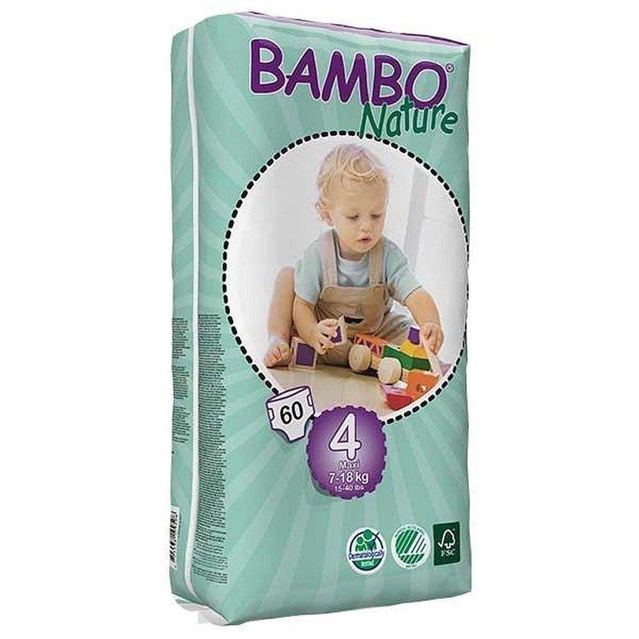 Bambo Nature 4 Ekologiczne pieluchy jednorazowe dla dzieci 7-18 kg 60 szt.