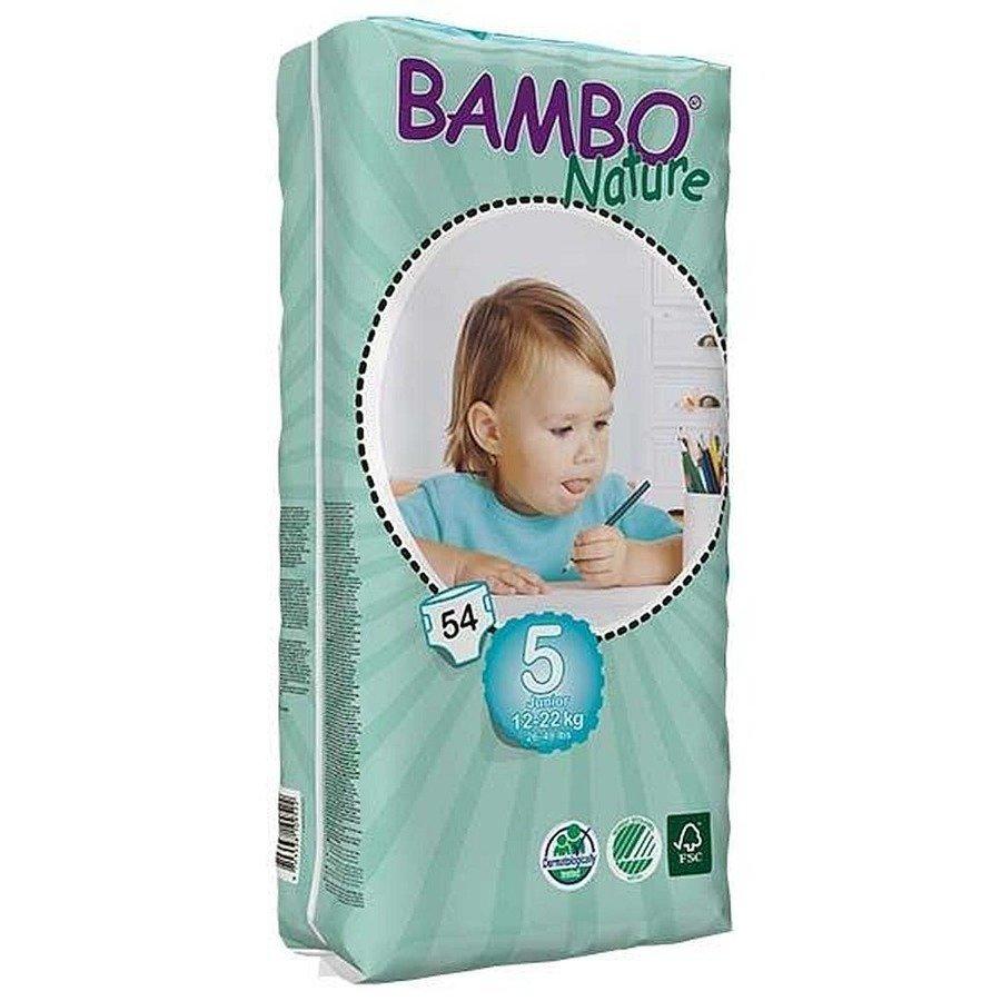 Bambo Nature 5 Ekologiczne pieluchy jednorazowe dla dzieci 12-22 kg 54 szt.