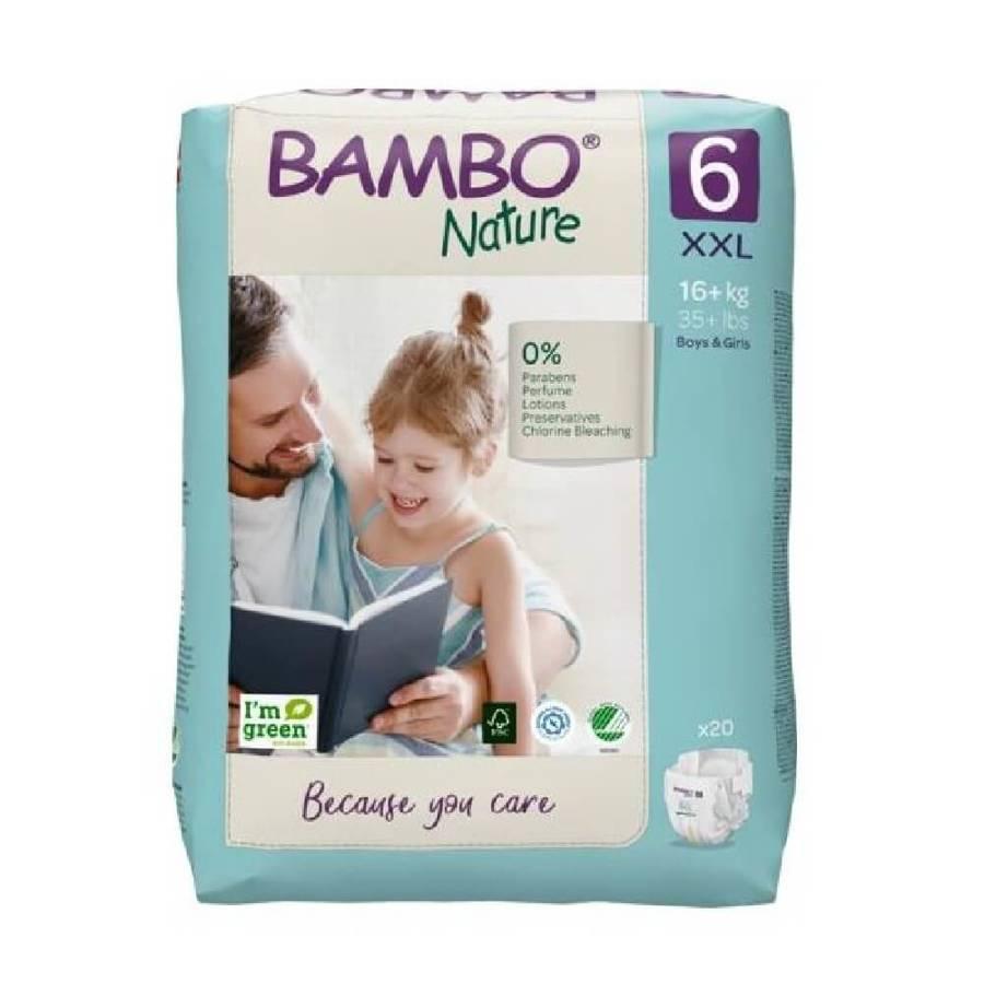 Bambo Nature 6 Pieluchy antyalergiczne dla dzieci 16-30 kg 20 szt.