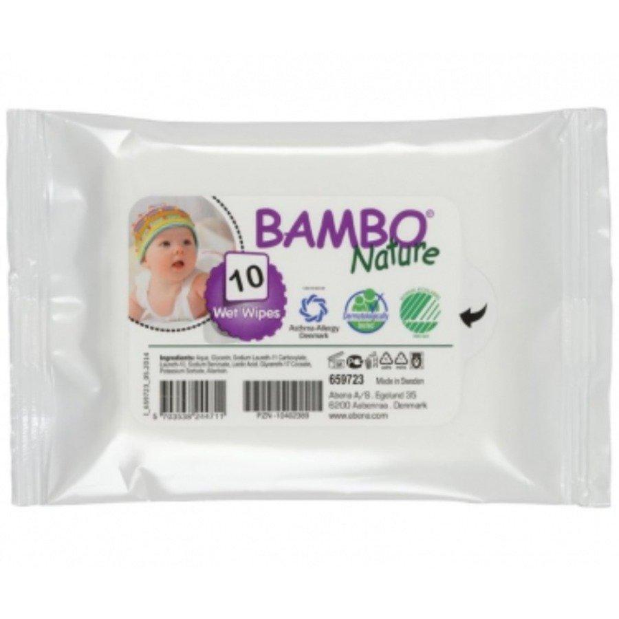 Bambo Nature Baby Hipoalergiczne chusteczki nawilżane 10 szt.