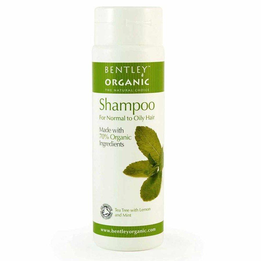 Bentley Organic Szampon do włosów normalnych i przetłuszczających się z olejkiem herbacianym, cytryną i miętą