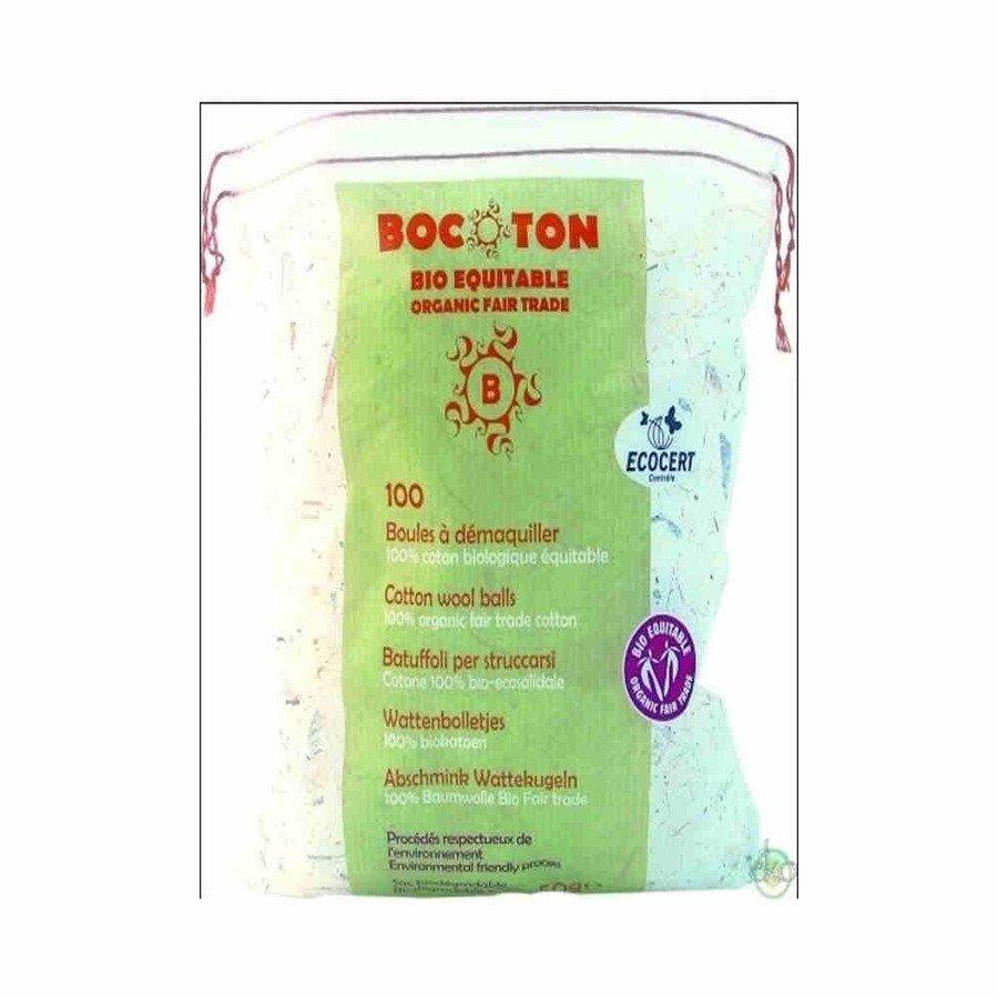 Bocoton Ekologiczna wata bawełniana kosmetyczna w kulkach 100 szt.