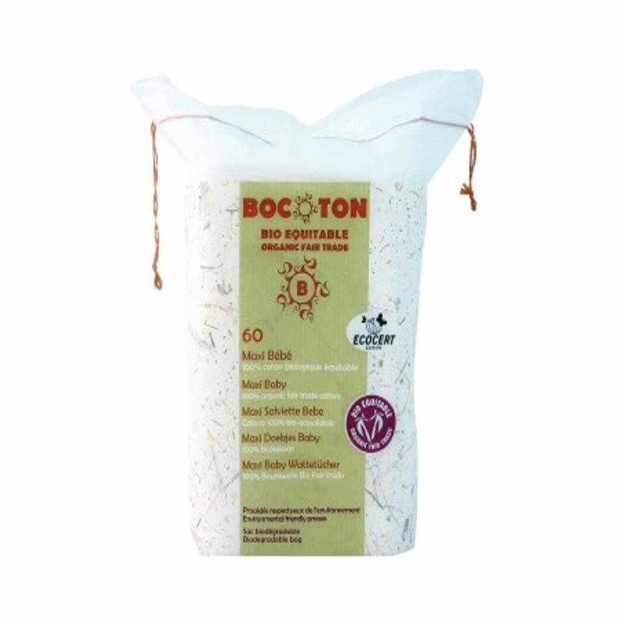 Bocoton Ekologiczne waciki, płatki kosmetyczne dla dzieci maxi 90 x 110 mm 60 szt.