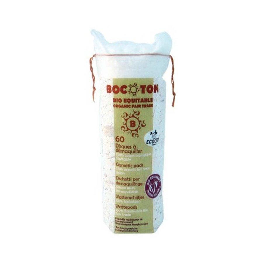 Bocoton Ekologiczne waciki, płatki kosmetyczne do demakijażu okrągłe 60 szt.