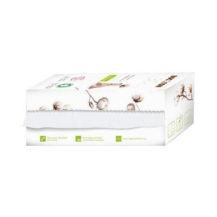 Bocoton Ręczniczki higieniczne bawełniane suche dla dzieci i niemowląt 50 szt.