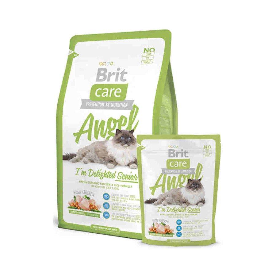 Brit Care Angel Hipoalergiczna karma sucha dla starszych kotów z kurczakiem i ryżem 400 g