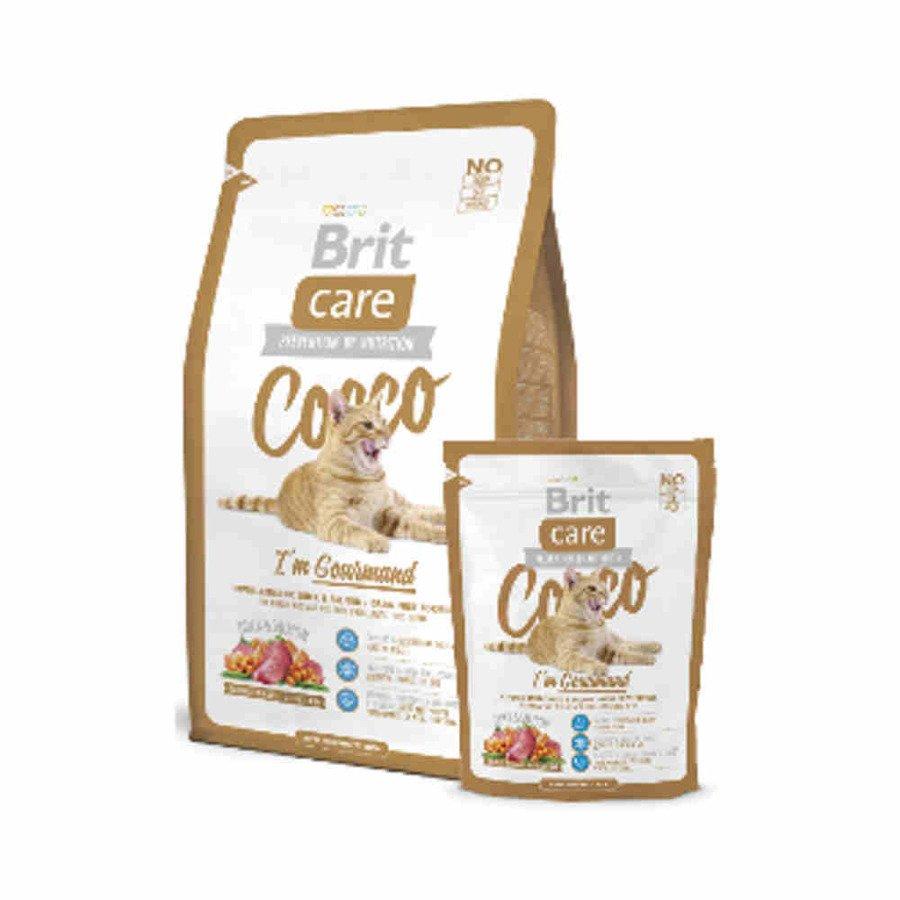 Brit Care Cocco Hipoalergiczna karma sucha dla dorosłych wybrednych kotów z kaczką i łososiem 400 g