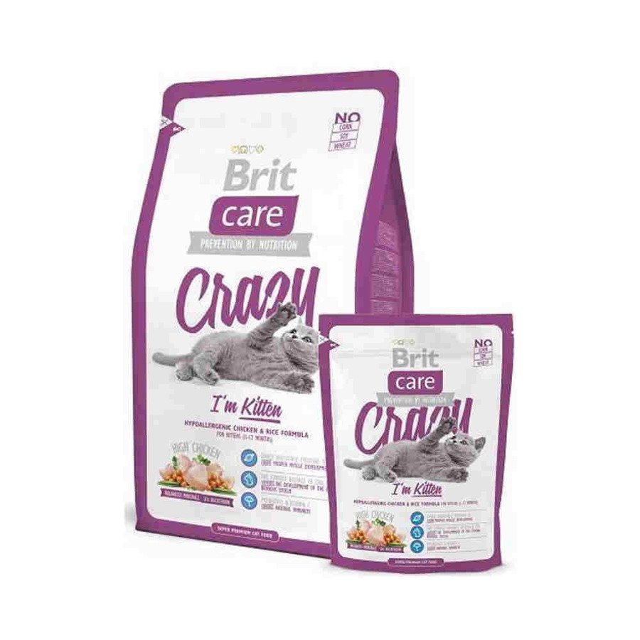 Brit Care Crazy Hipoalergiczna karma sucha dla kociąt z kurczakiem i ryżem 2 kg