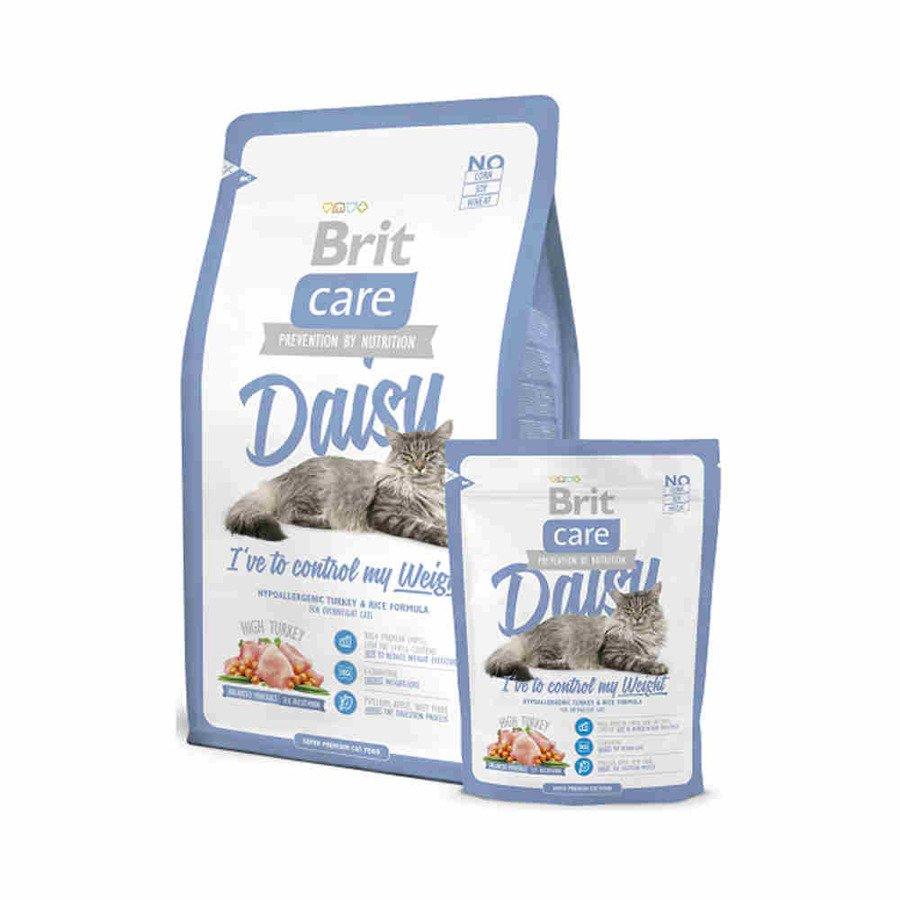 Brit Care Daisy Hipoalergiczna karma sucha dla dorosłych kotów z nadwagą indyk z ryżem 400 g