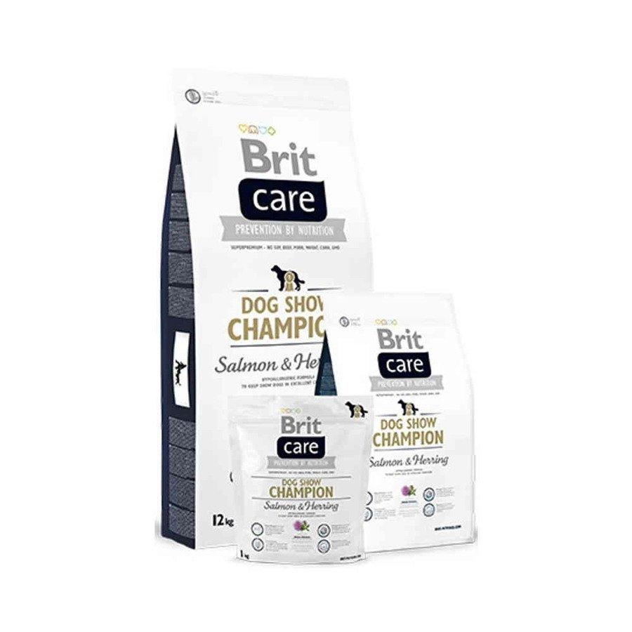 Brit Care Dog Show Champion Hipoalergiczna karma sucha dla psów wystawowych z łososiem i śledziem 12 kg