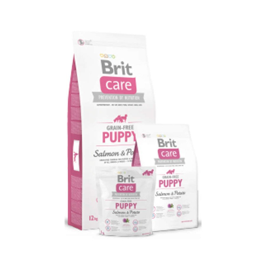 Brit Care GF Bezzbożowa karma sucha dla szczeniąt i młodych psów wszystkich ras z łososiem i ziemniakami 1 kg