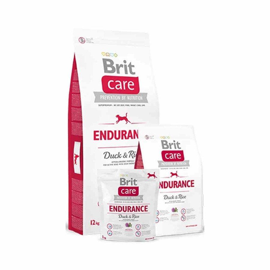 Brit Care Hipoalergiczna karma sucha dla dorosłych psów bardzo aktywnych i pracujących z kaczką i ryżem 1 kg