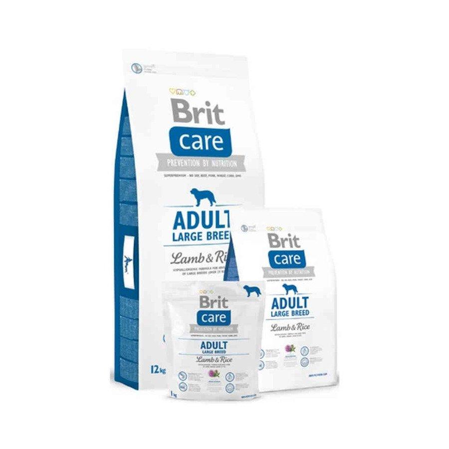 Brit Care Hipoalergiczna karma sucha dla dorosłych psów ras dużych z jagnięciną i ryżem 1 kg
