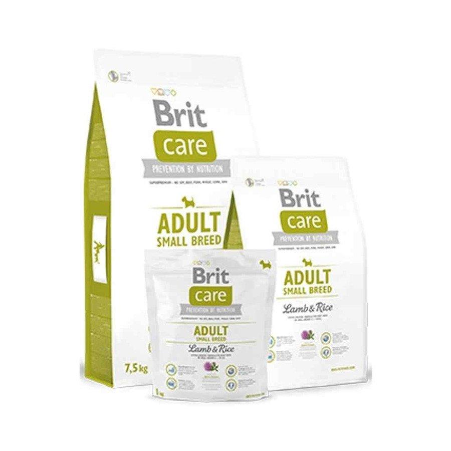 Brit Care Hipoalergiczna karma sucha dla dorosłych psów ras małych z jagnięciną i ryżem 1 kg