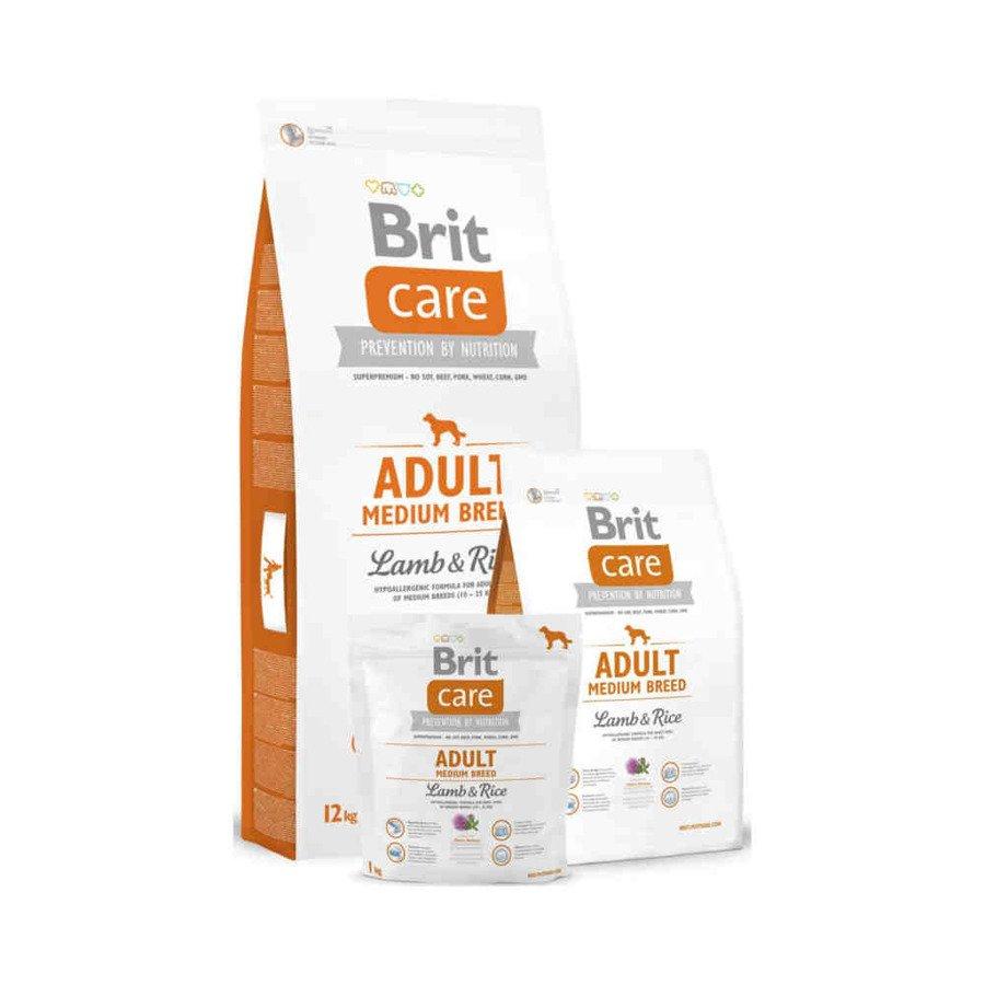 Brit Care Hipoalergiczna karma sucha dla dorosłych psów ras średnich z jagnięciną i ryżem 3 kg
