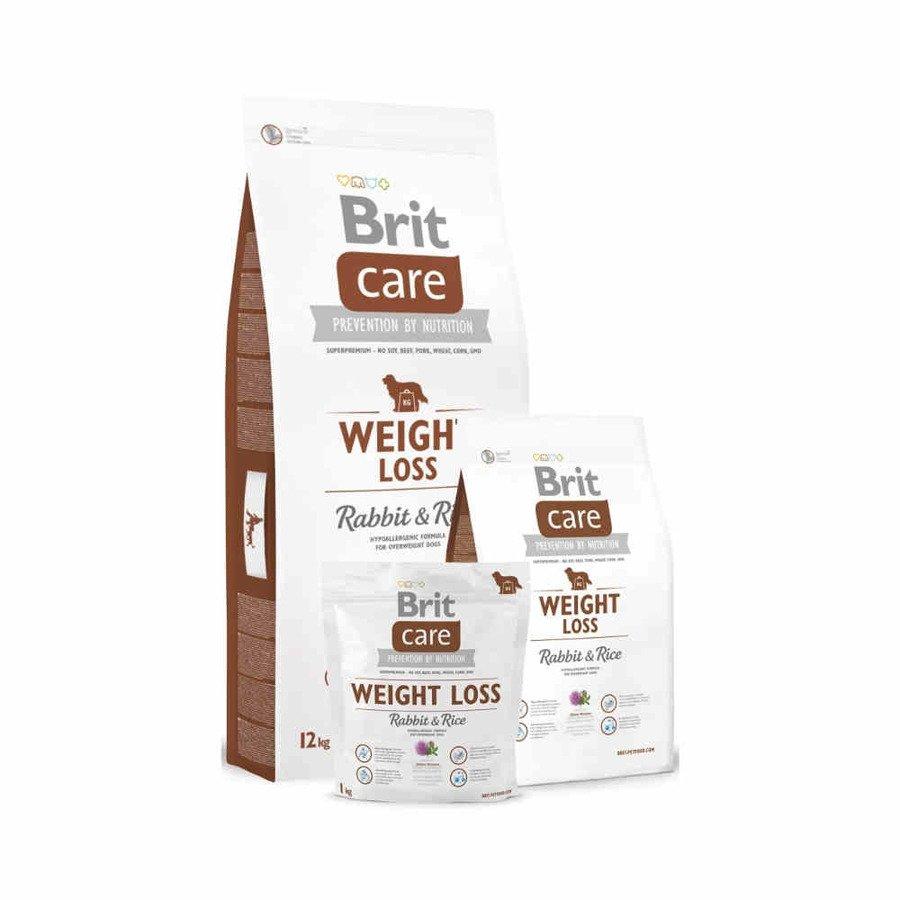 Brit Care Hipoalergiczna karma sucha dla dorosłych psów z nadwagą królik z ryżem 1 kg