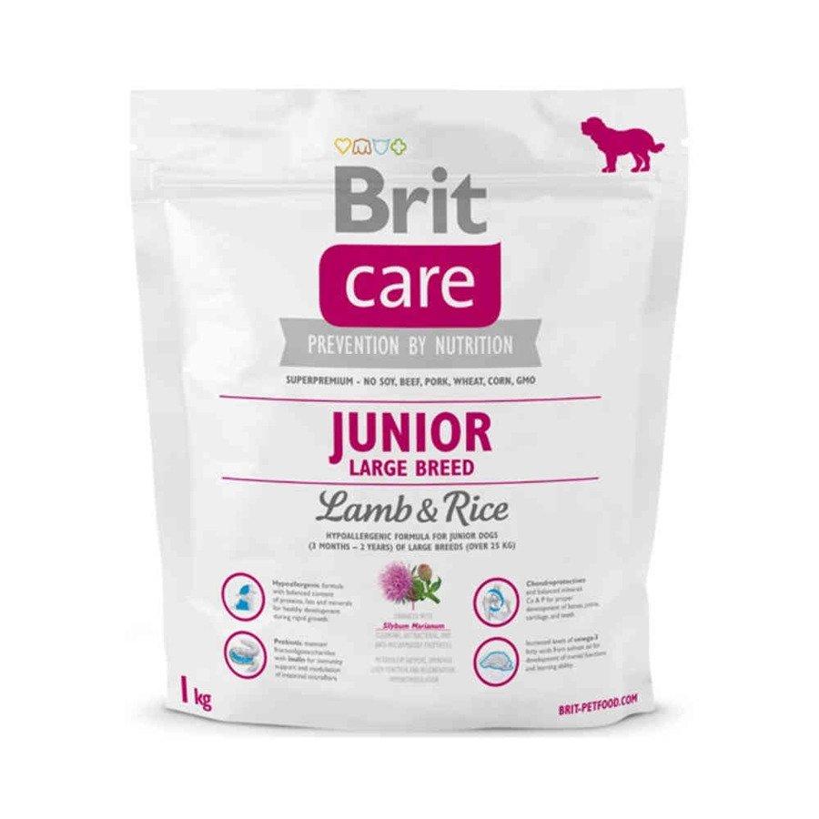 Brit Care Hipoalergiczna karma sucha dla młodych psów ras dużych z jagnięciną i ryżem 1 kg