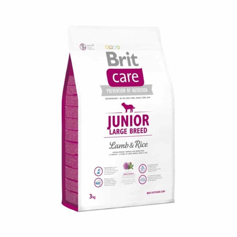 Brit Care Hipoalergiczna karma sucha dla młodych psów ras dużych z jagnięciną i ryżem 3 kg