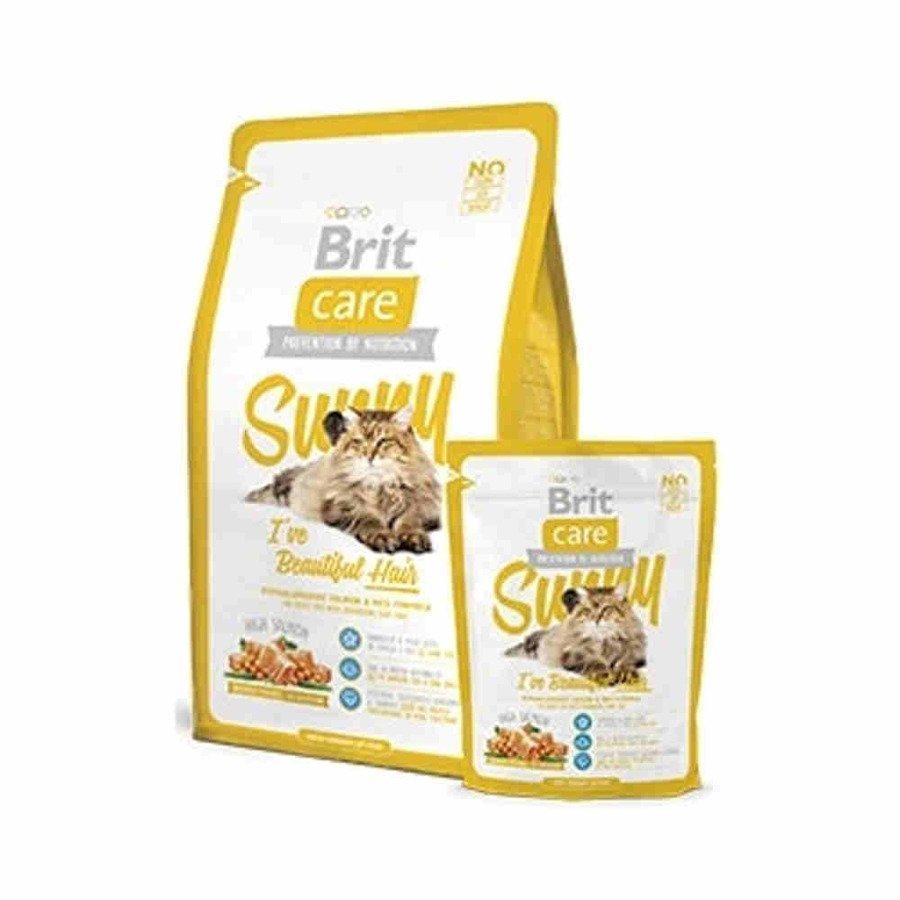 Brit Care Sunny Hipoalergiczna karma sucha dla dorosłych kotów wymagających szczególnej pielęgnacji sierści z łososiem i ryżem 2 kg
