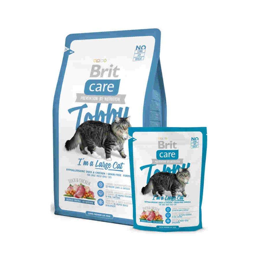 Brit Care Tobby Hipoalergiczna karma sucha dla dorosłych kotów ras dużych z kaczką i kurczakiem 400 g